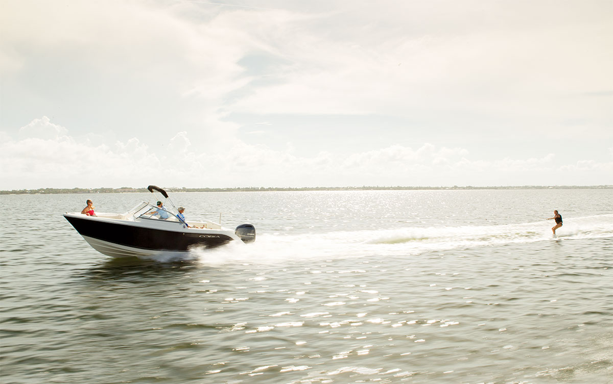 Family Fishing Boats Jet Skier