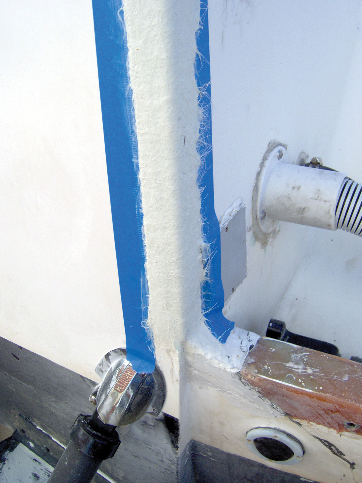 2018 3 Basic Fiber Glass Repairs Transom Repair 4