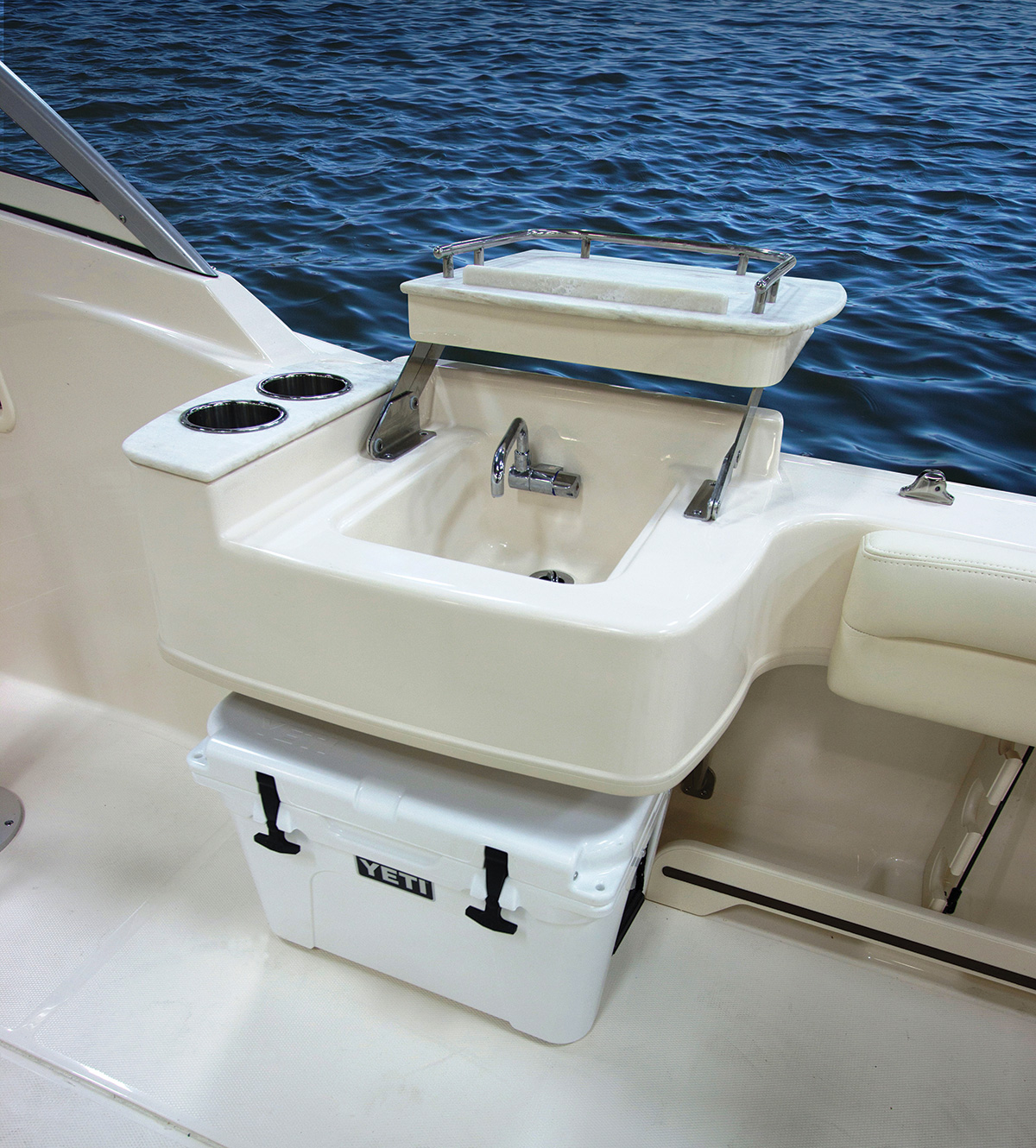 2017 9 Adding Functional Luxury To Your Boat Cockpit Galley & Upgraded Cooler Cmyk