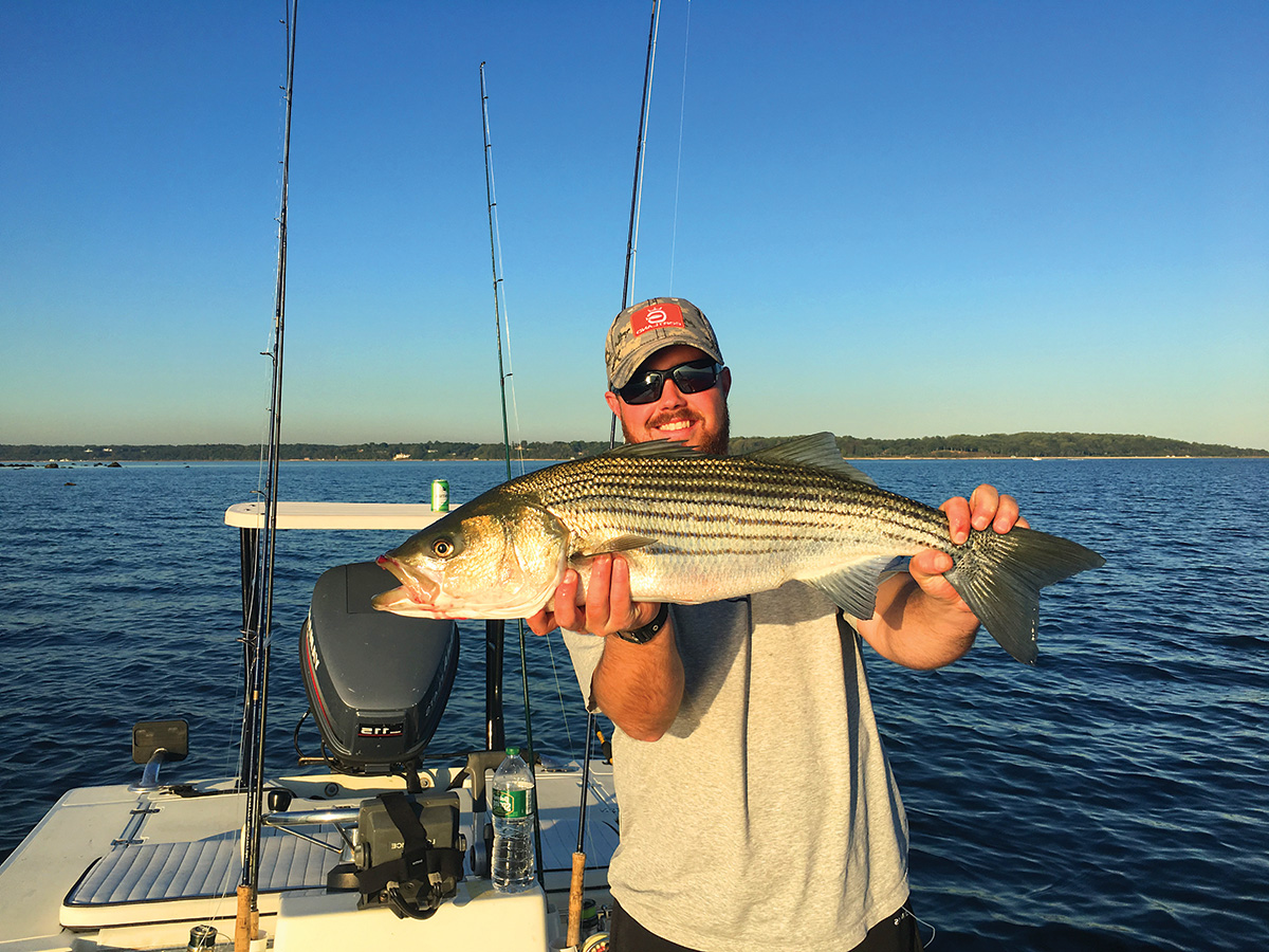 2018 5 Baiting For Stripers Catch