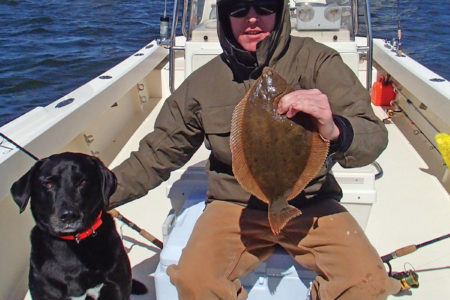 2019 2 Winter Flounder Prep With Dog
