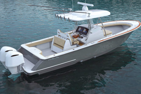 2019 3 Vikings New Center Console V33 Aft Quarter Water