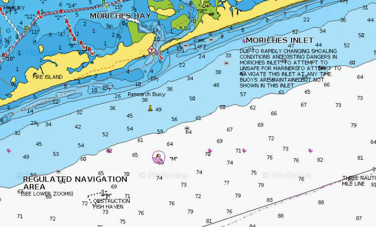 Map showing the south wreck