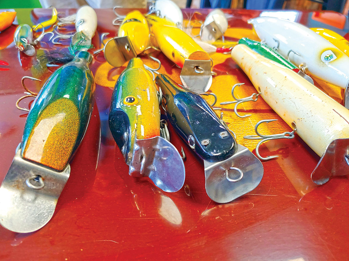 colorful collection of artificial lures