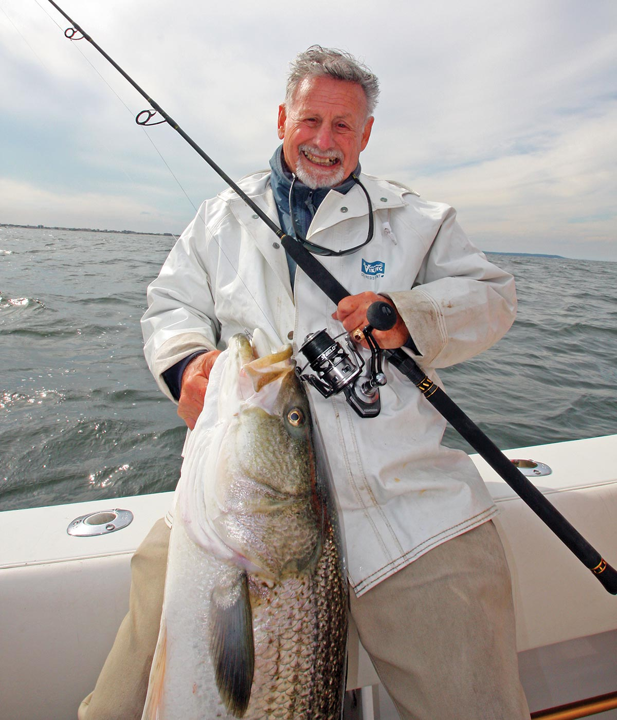Capt. Al Ristori with his huge catch and a huge smile