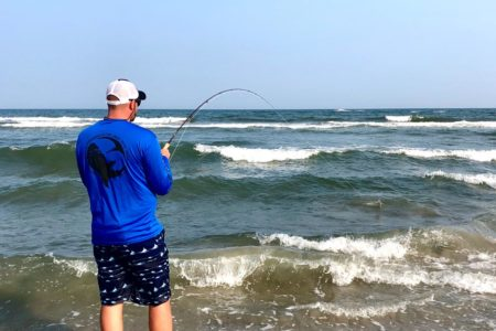 Sightcasting to rays in the summer surf will put your fishing rods to the test