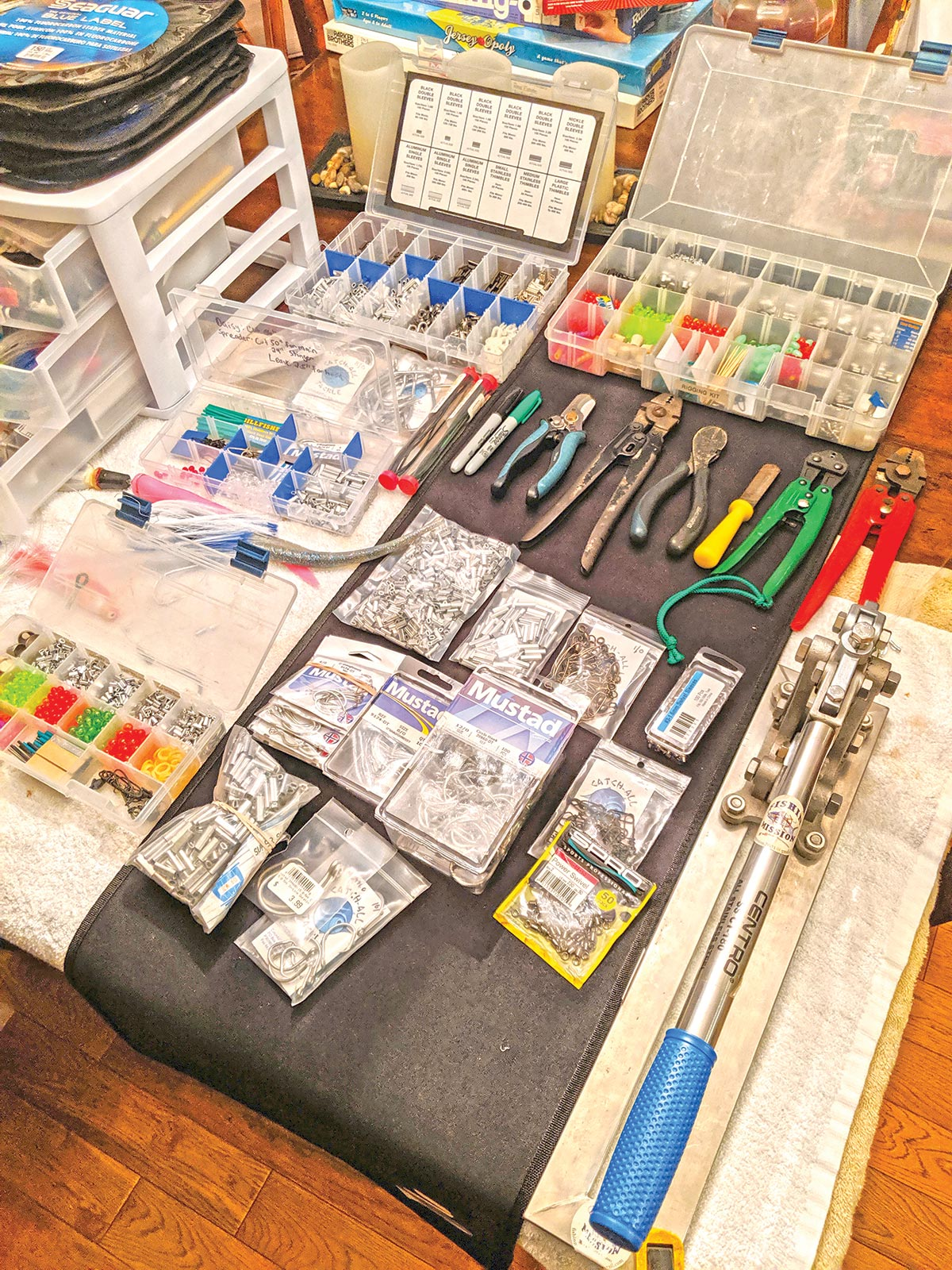 Organized rigging kits are essential to making sure you have the proper gear