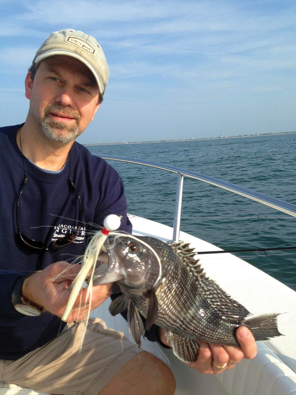 Sea bass are suckers for bucktails