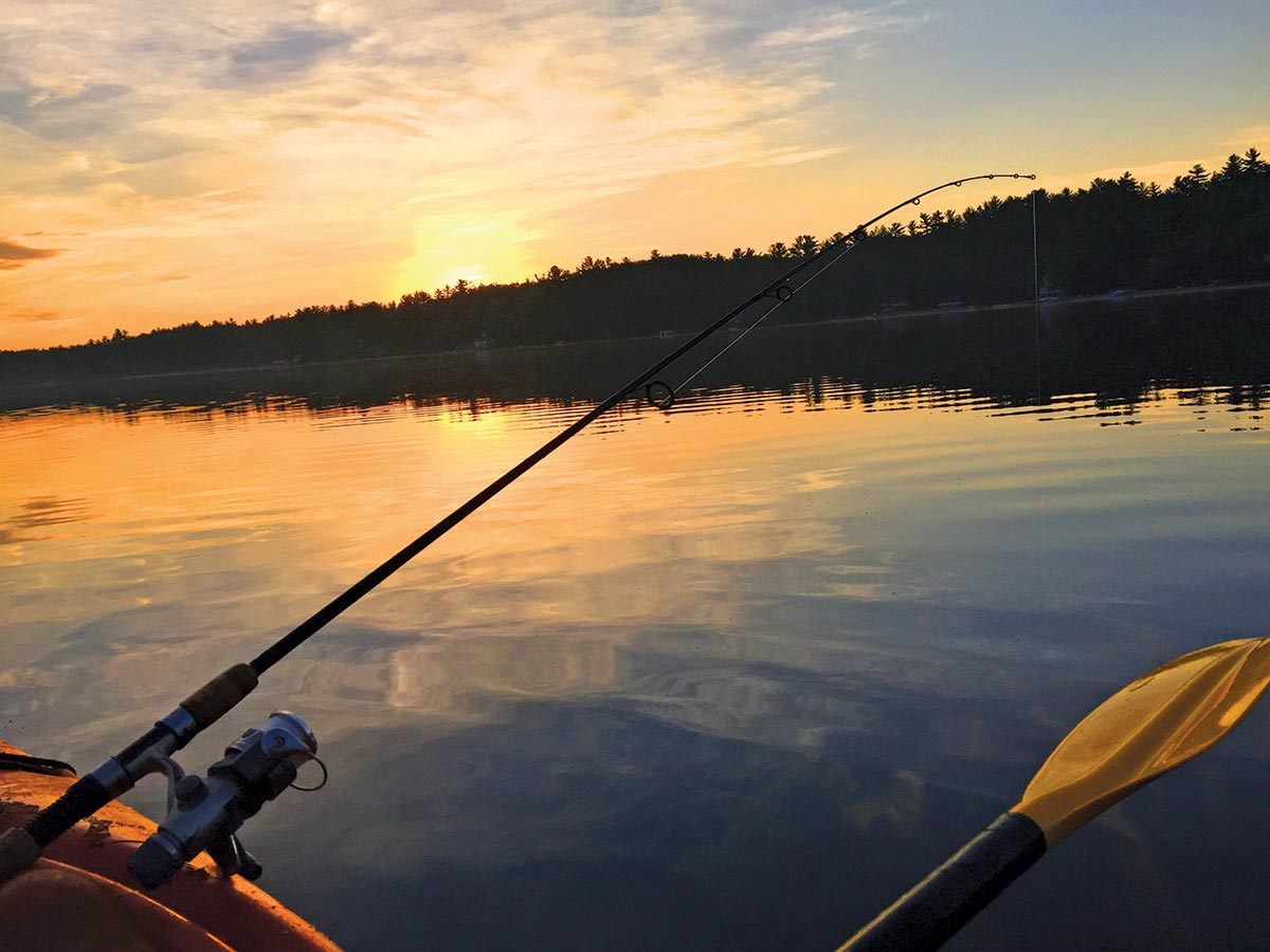 Early morning hours scene when fishing