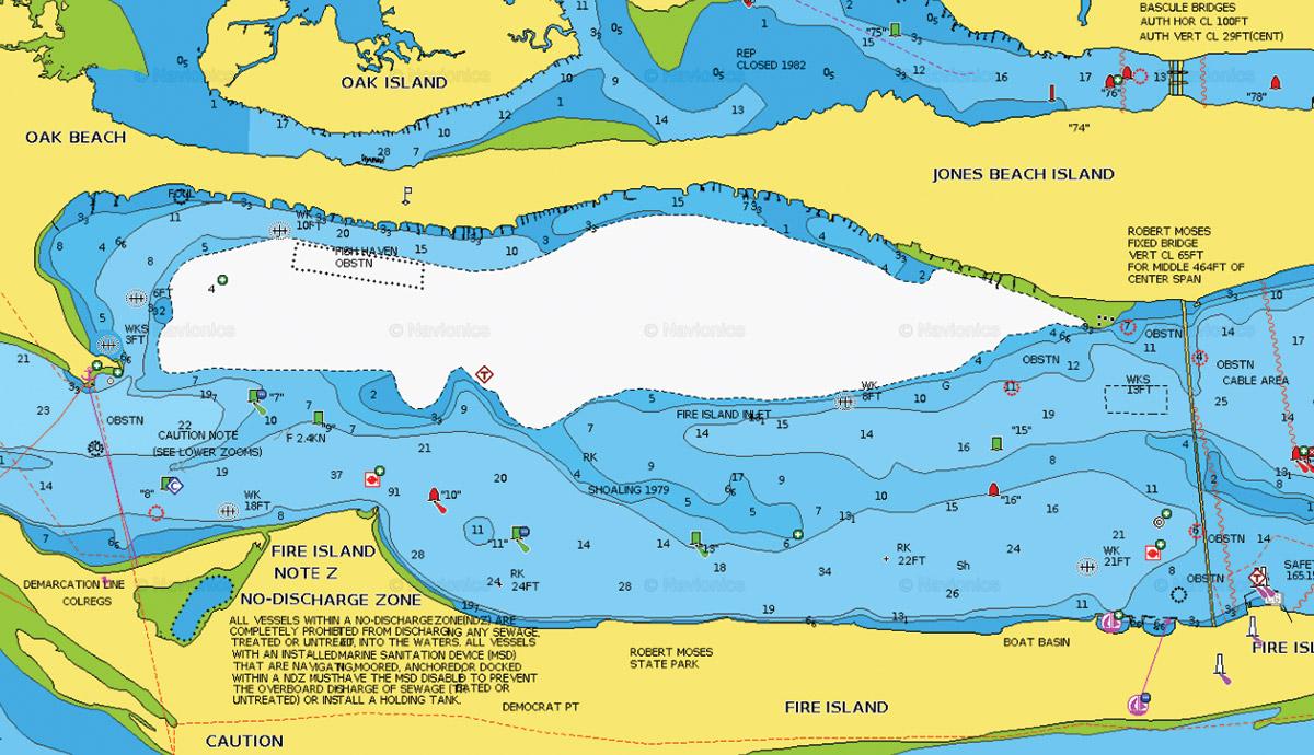 Map of OAK BEACH Shoreline
