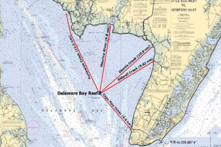 DELAWARE BAY REEF map