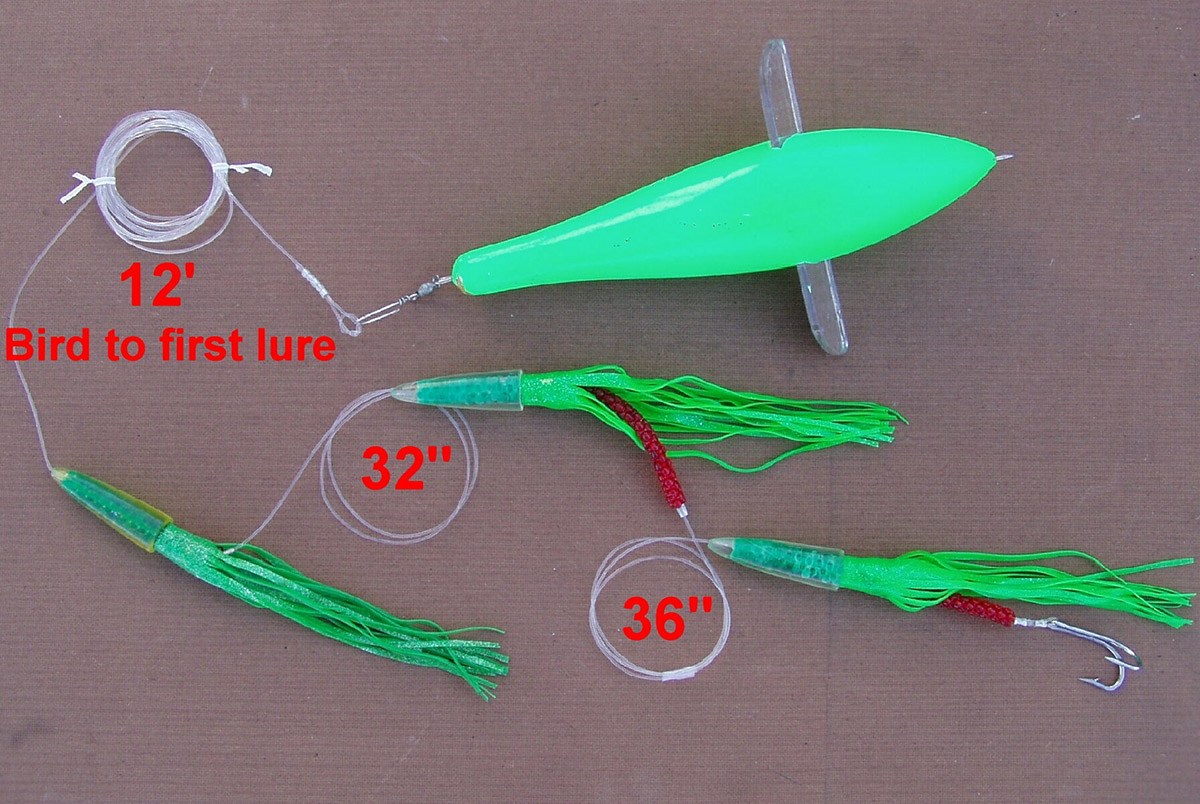 How to rig a bird with triple green machines.