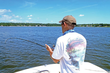 we use stout tackle to navigate fish in shallow water and around boulders, pilings, and moorings