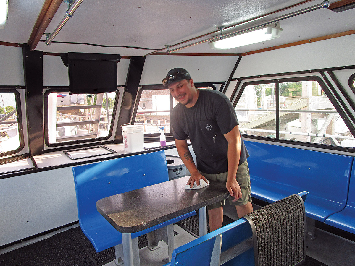 Step 1 in Making of a Party Boat Mate