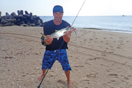 Part of the success on bonito and Spanish mackerel is due to being in the right place at the right time