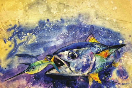 Artwork of tuna by Savio Mizzi