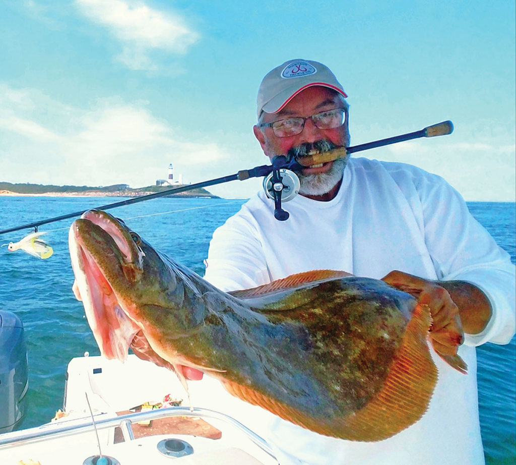 show up that huge fluke while holding the fishing rod with your teeth