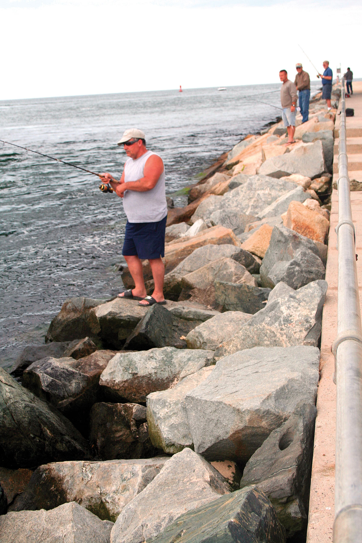 fished from the rocks