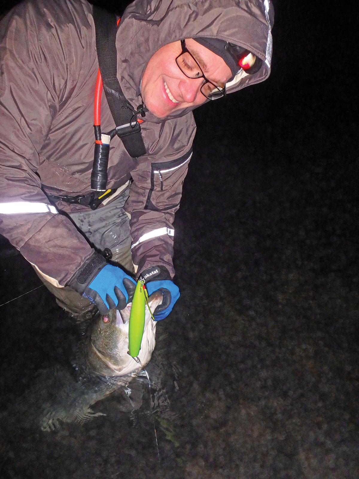 Toby Lapinski often fishes a needlefish