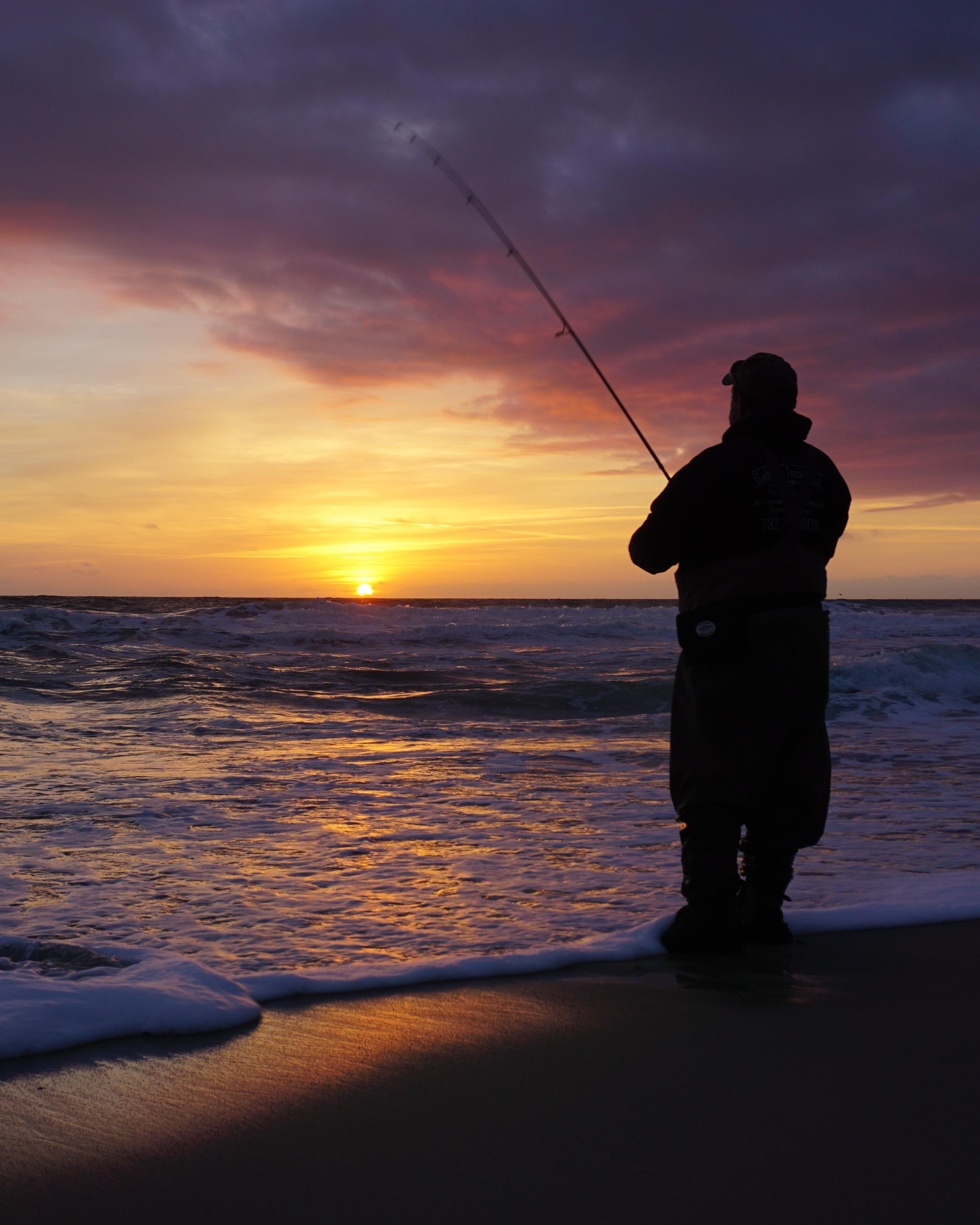 silhouette fishing