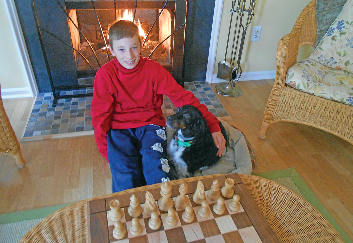 A boy and his dog. Casey never lived with him but Lleyton and the little setter knew they were meant for each other.