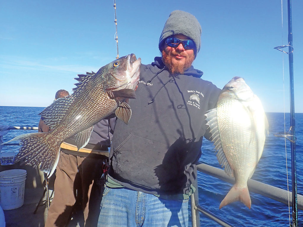 December is a hot month in the Garden State for party boat action targeting tasty wreck favorites like black sea bass and porgies.