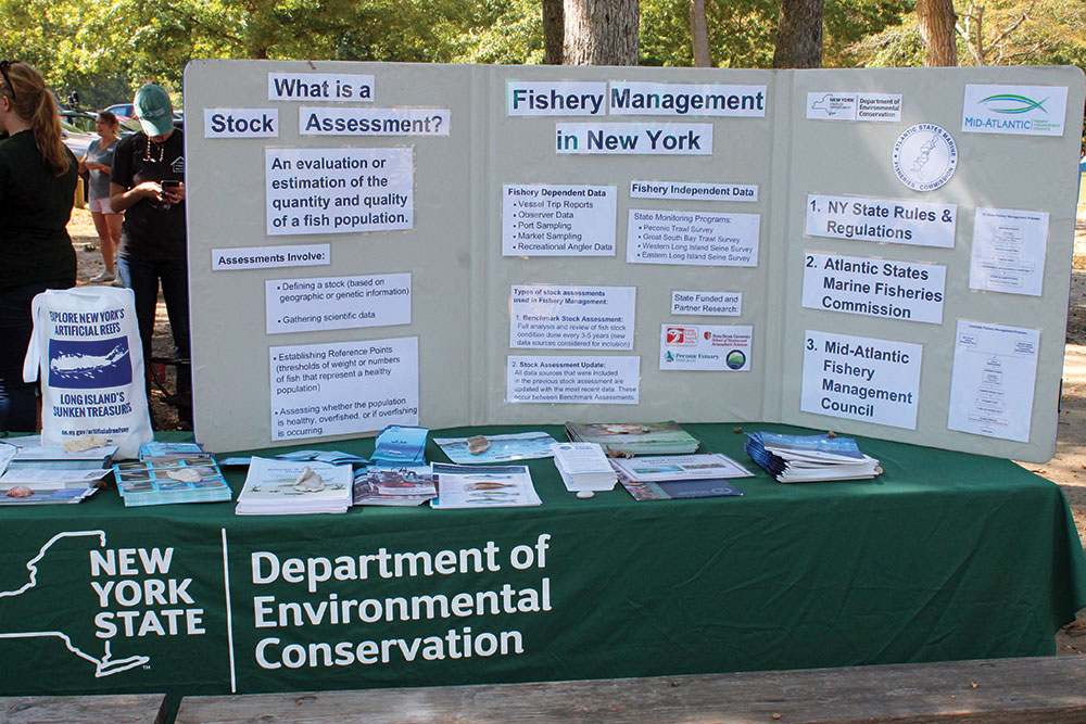 A wealth of information on fisheries management was provided through handouts and DEC staff.