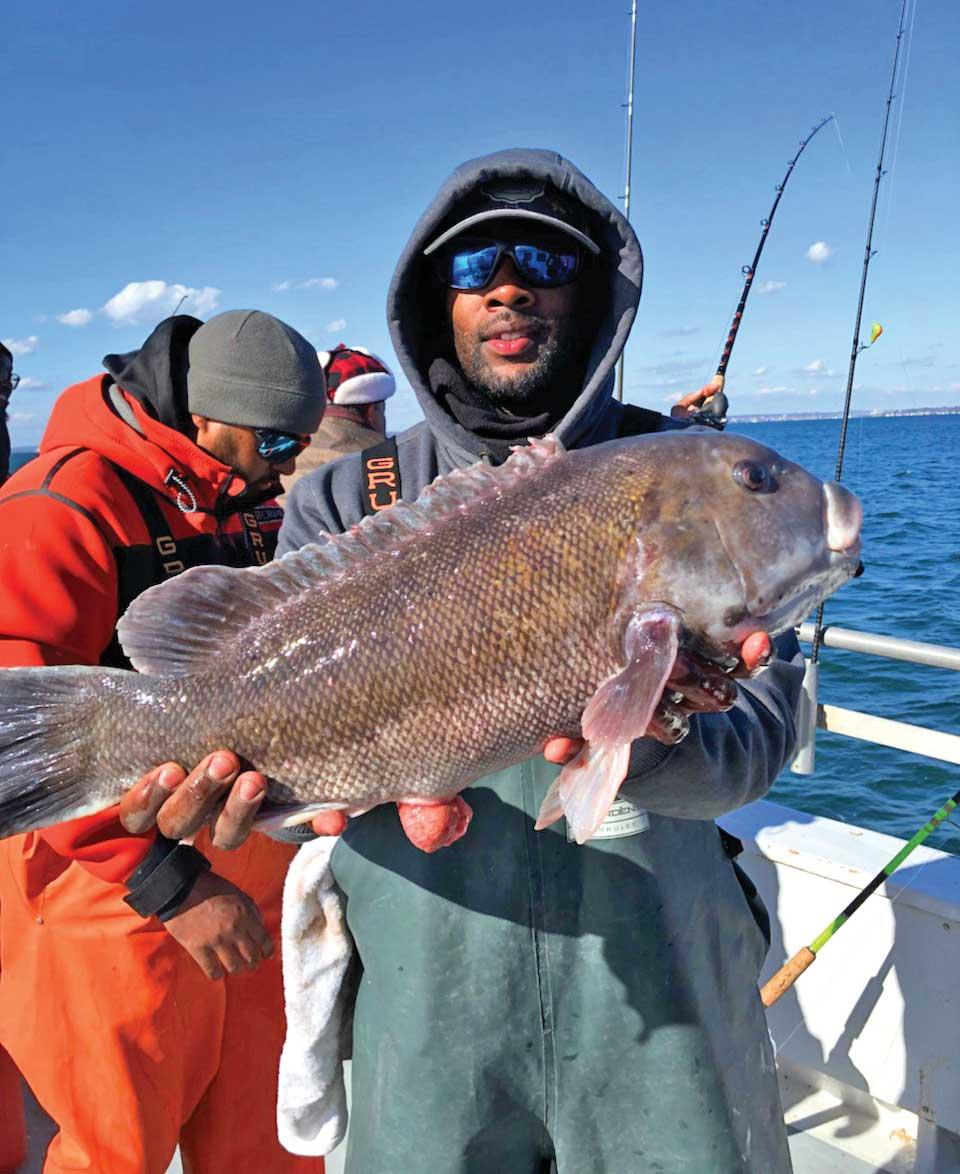 Blackfish are Garrett's favorite target species.