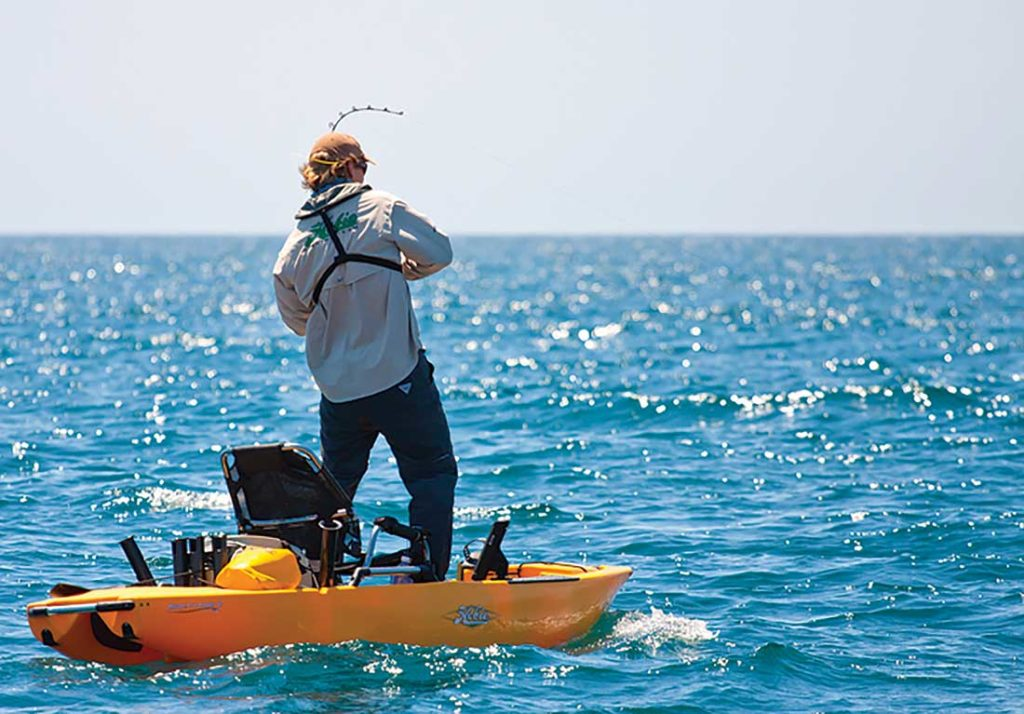Many of today's kayaks are stable enough for anglers to safely and effectively fish from while standing up.