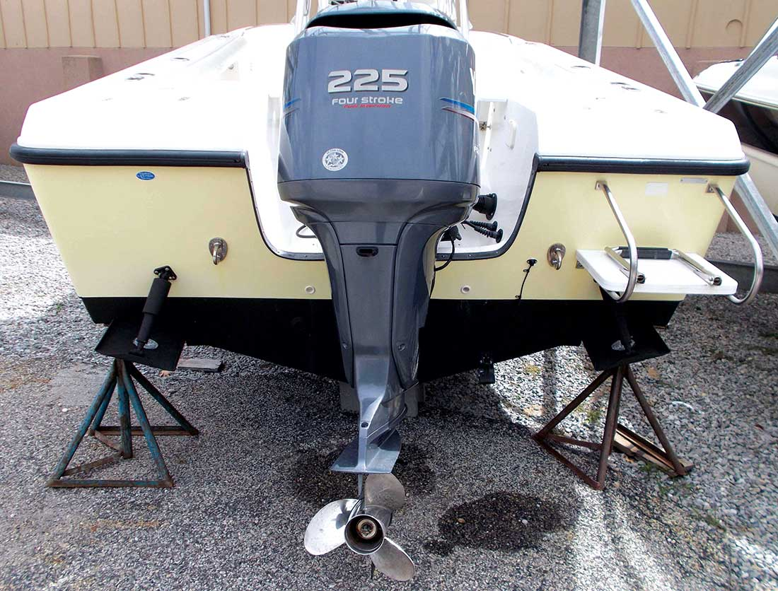 Edge-mounted trim tabs with zincs.