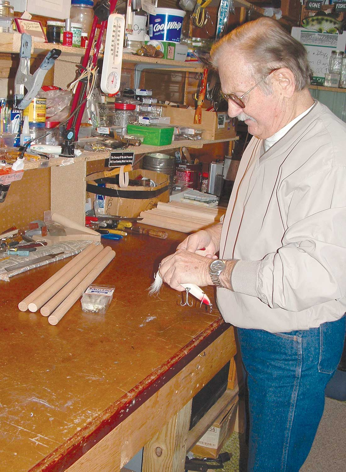 Seen here at home in his workshop, Charlie Cinto