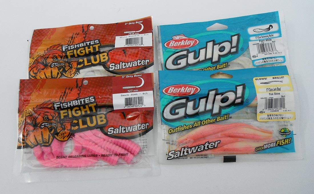 Scented soft baits like Gulp and FishBites fished on ¼ to ¾-ounce lead heads are deadly on Great South Bay weaks.