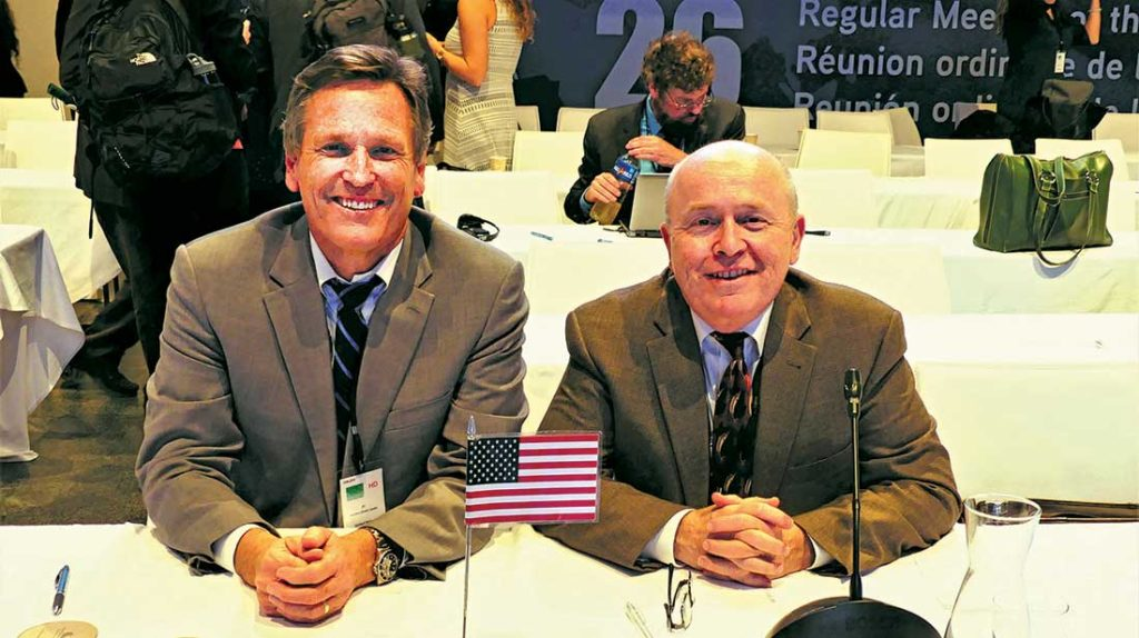 Drew Lawler and U.S. Delegate Ray Bogan of New Jersey