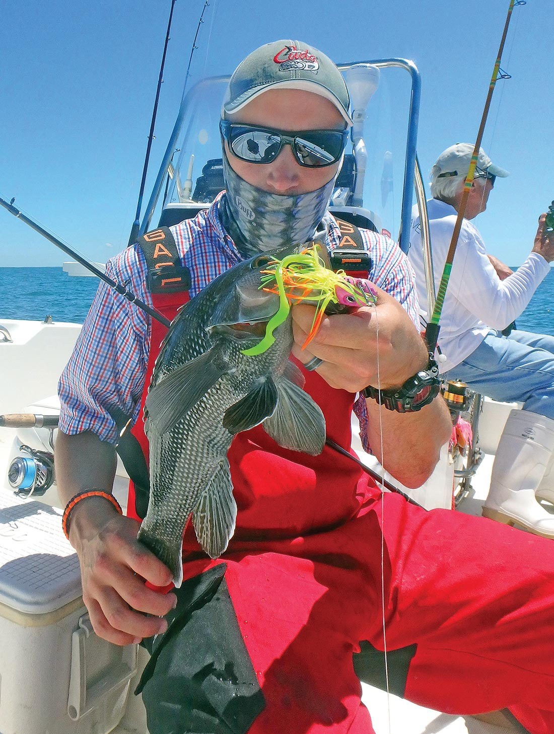 This keeper sea bass struck the author's JoeBaggs Flukie tipped with a Fat Cow Jig Strip last summer.
