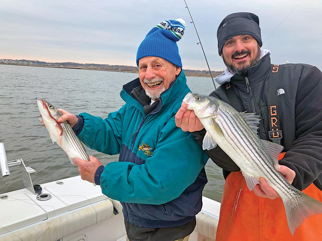 The author gets in on the spring worming on the Raritan Bay