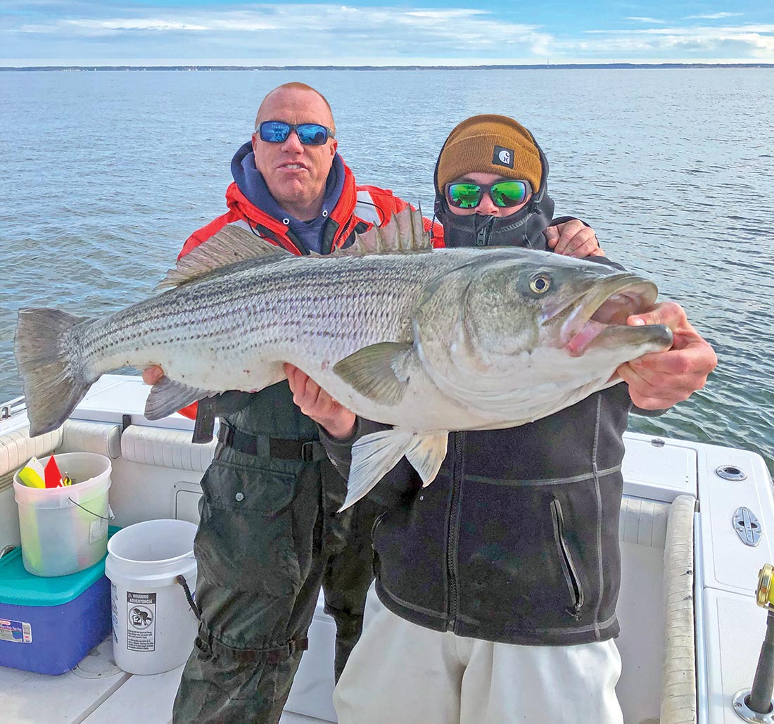 Chuck Many saw nearly 1,500 stripers released from his boat