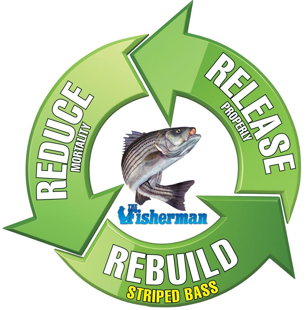 Mission Montauk Circle Reduce Logo With Striper