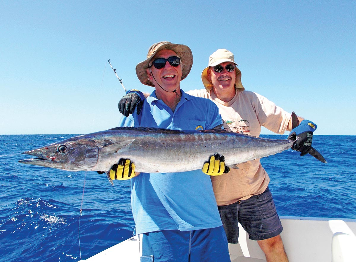 You might intercept a wahoo like this 50 pounder while working near offshore waters or trolling the Edge.