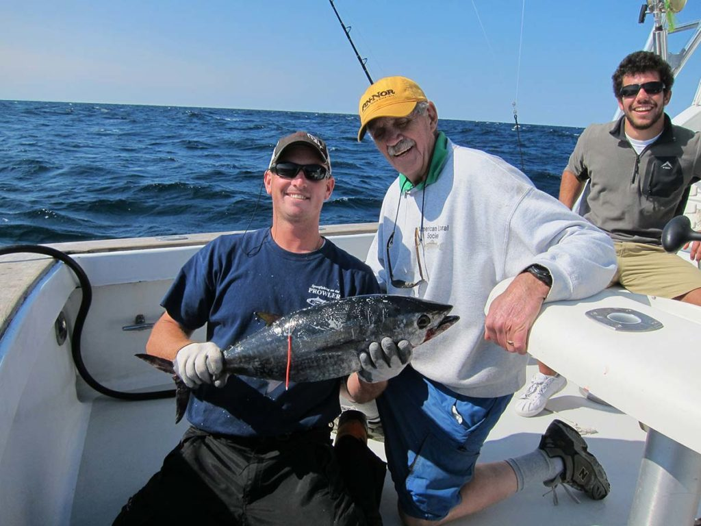 Captain Al Anderson with a school bluefin