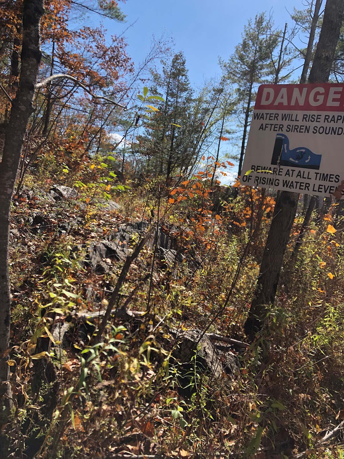 Rising water danger