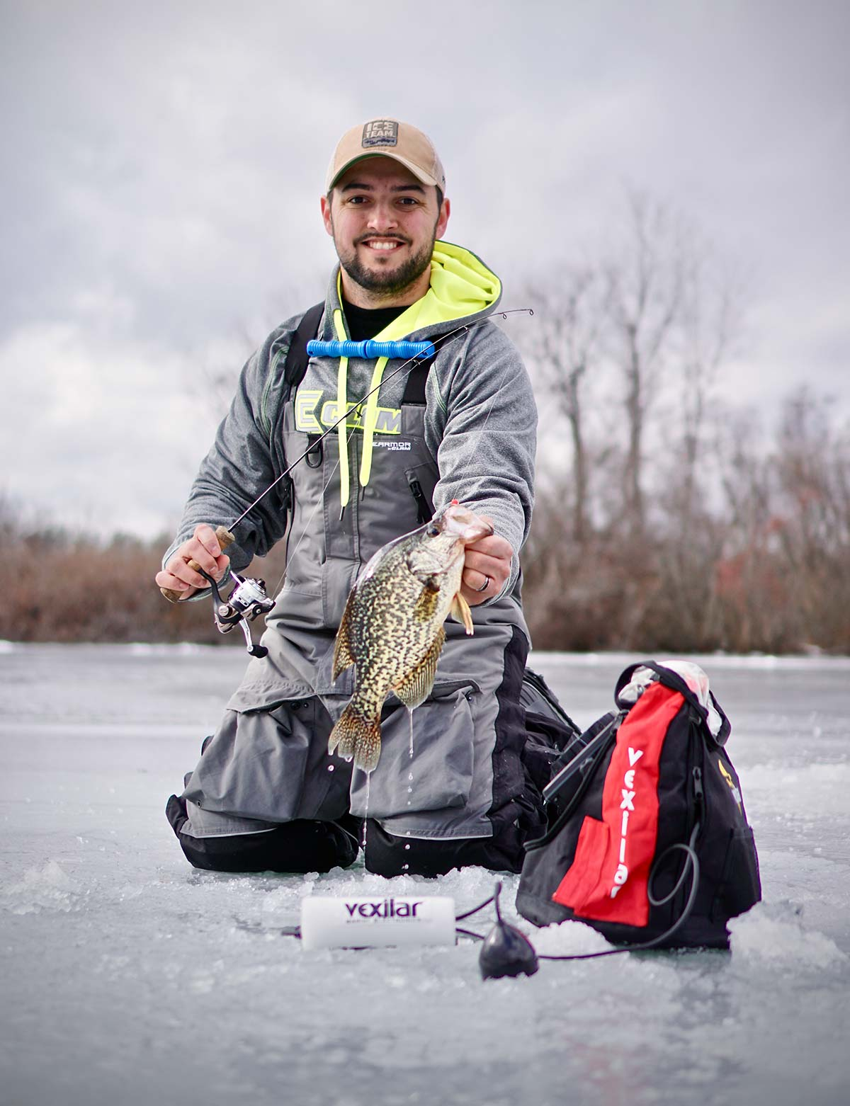Jigging a set of holes is a mobile method of hunting down fish, similar to fishing open water in a boat or walking the shoreline. Add a flasher to the mix to improve your odds and increase success!